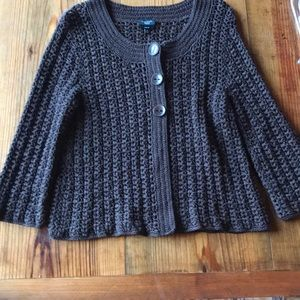 Heavy knit brown cardigan